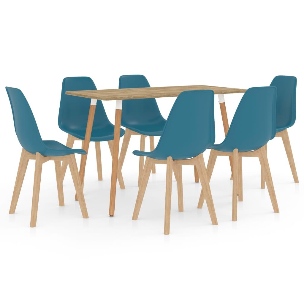 vidaXL Set de mobilier de bucătărie, 7 piese, turcoaz vidaxl.ro