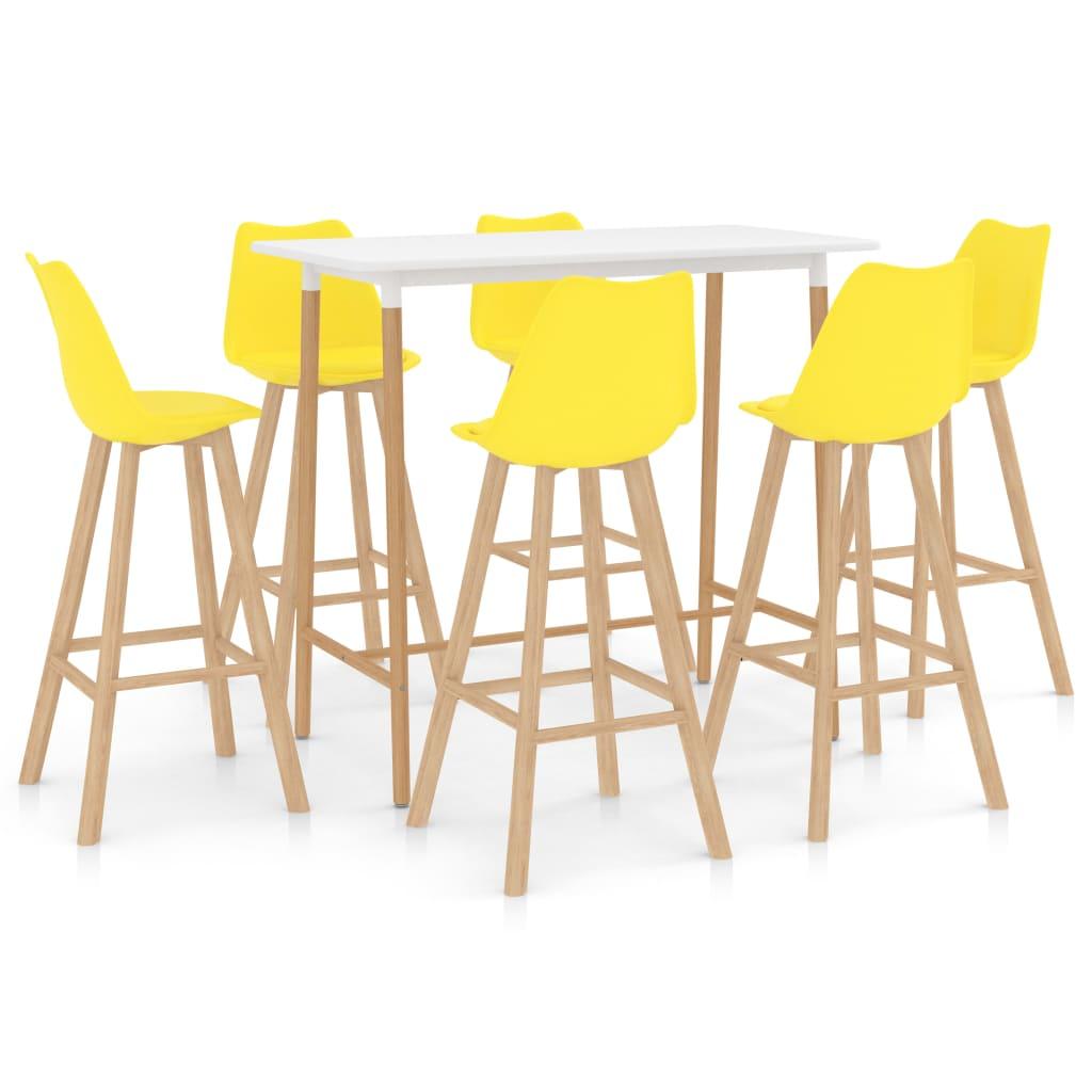 vidaXL 7-delige Barset geel