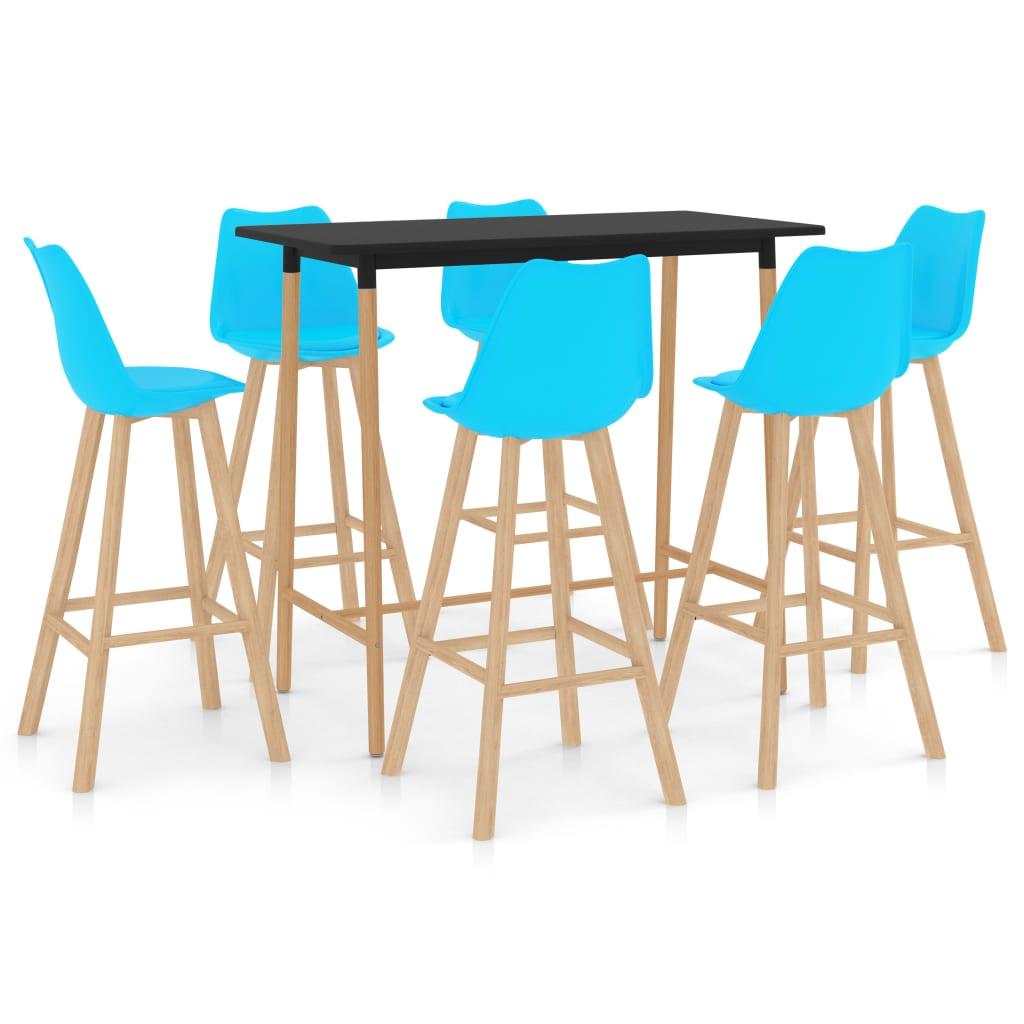 vidaXL 7-delige Barset blauw
