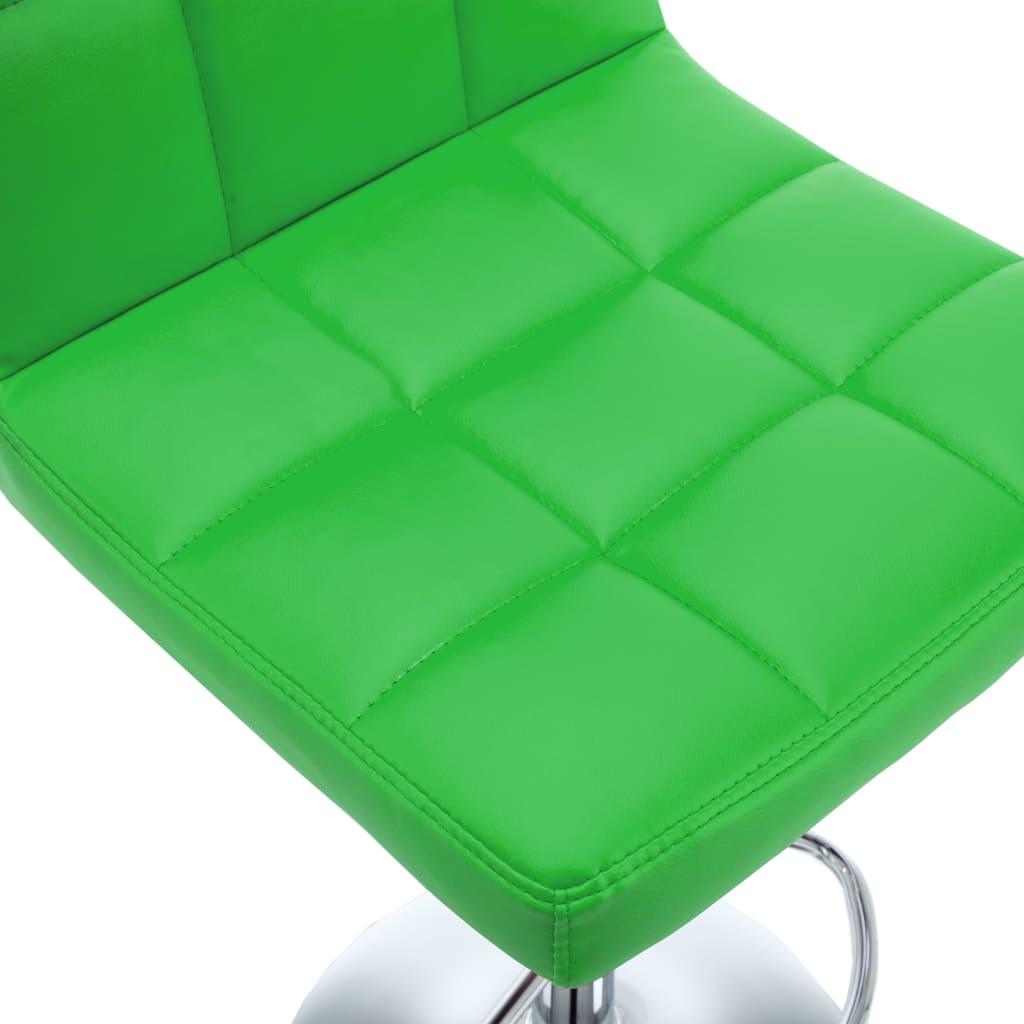 Barkrukken 2 st kunstleer groen