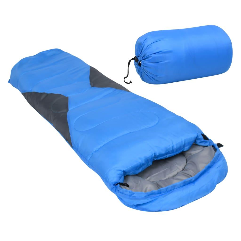 vidaXL sovepose til børn 670 g 10 °C mumieformet blå