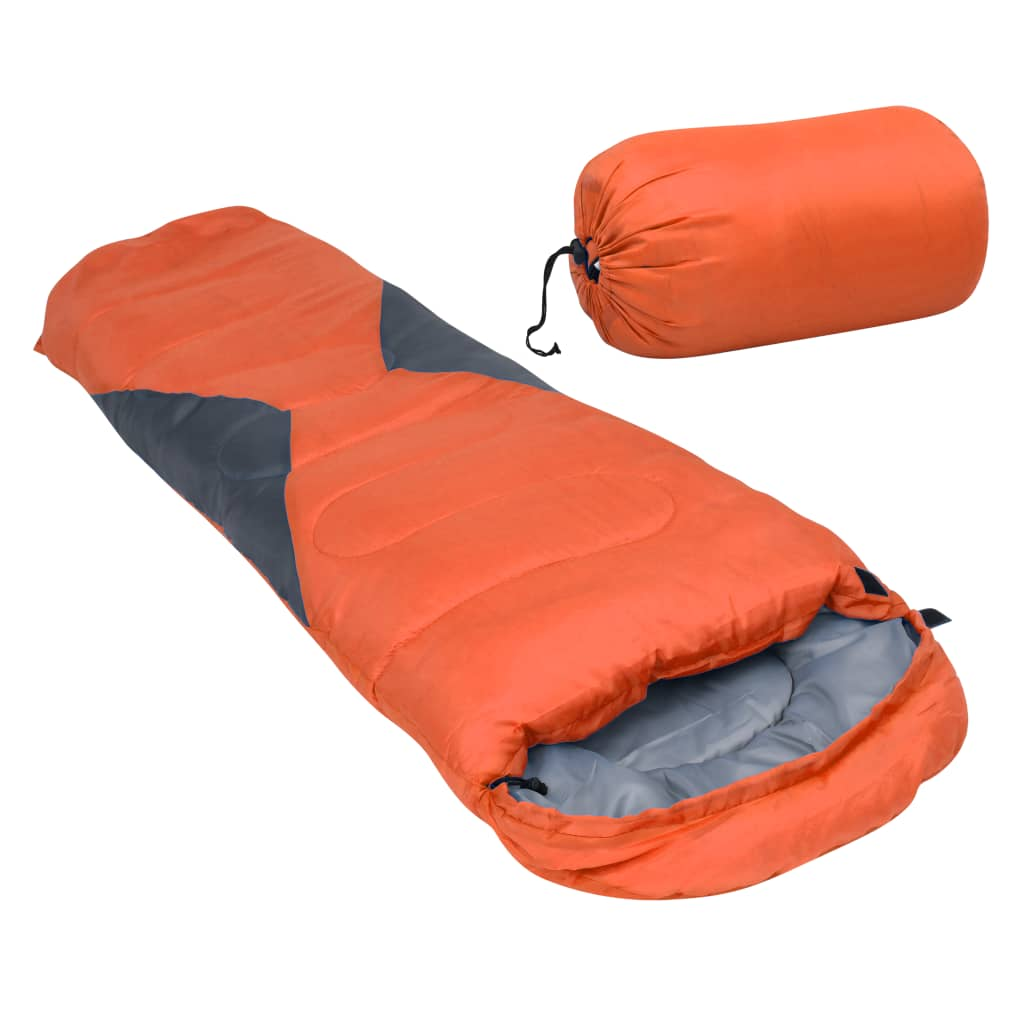 vidaXL sovepose til børn 670 g 10 °C mumieformet orange