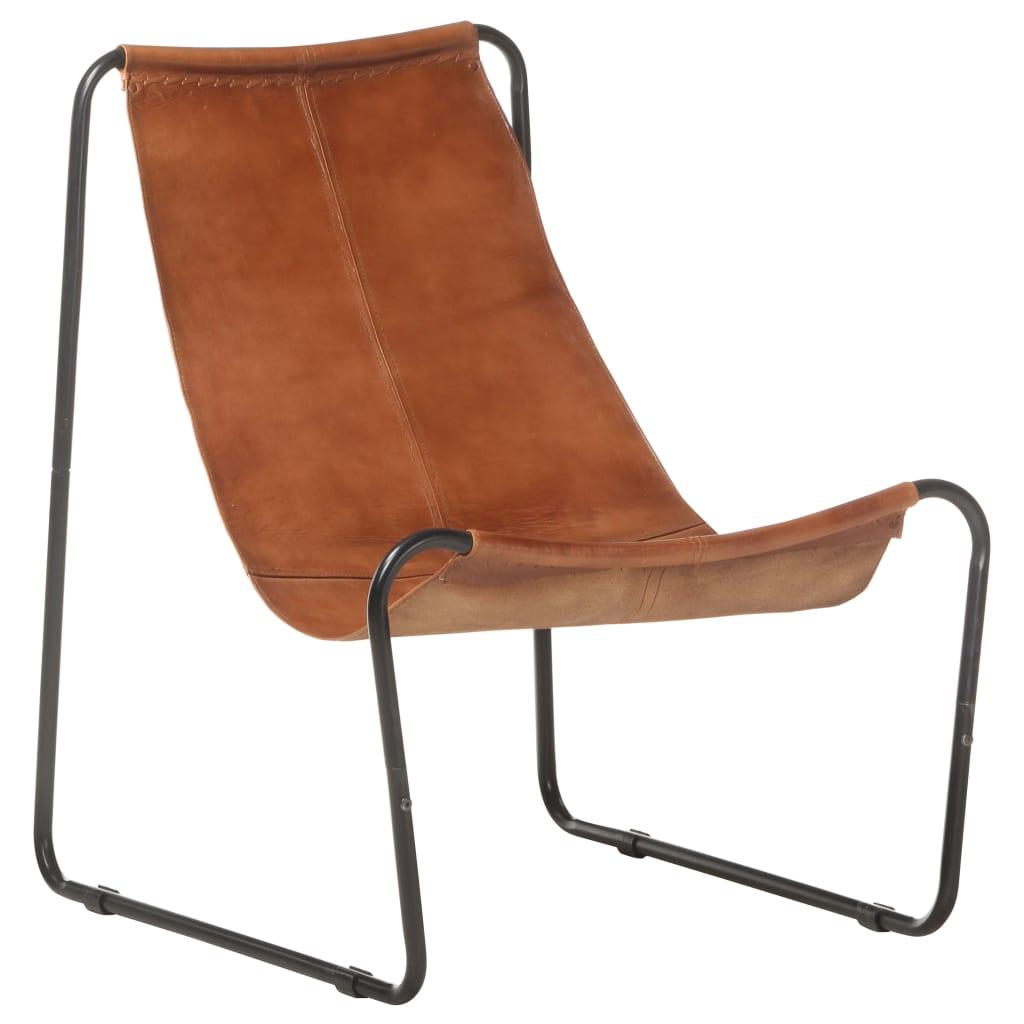Lõõgastav tool, pruun, eht..