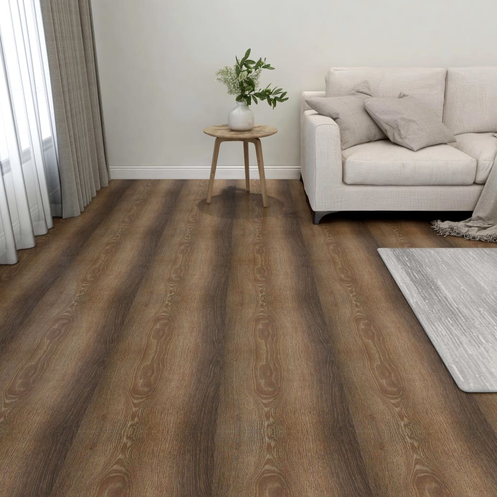 Samolepicí podlahové desky 55 ks PVC 5,11 m² hnědé