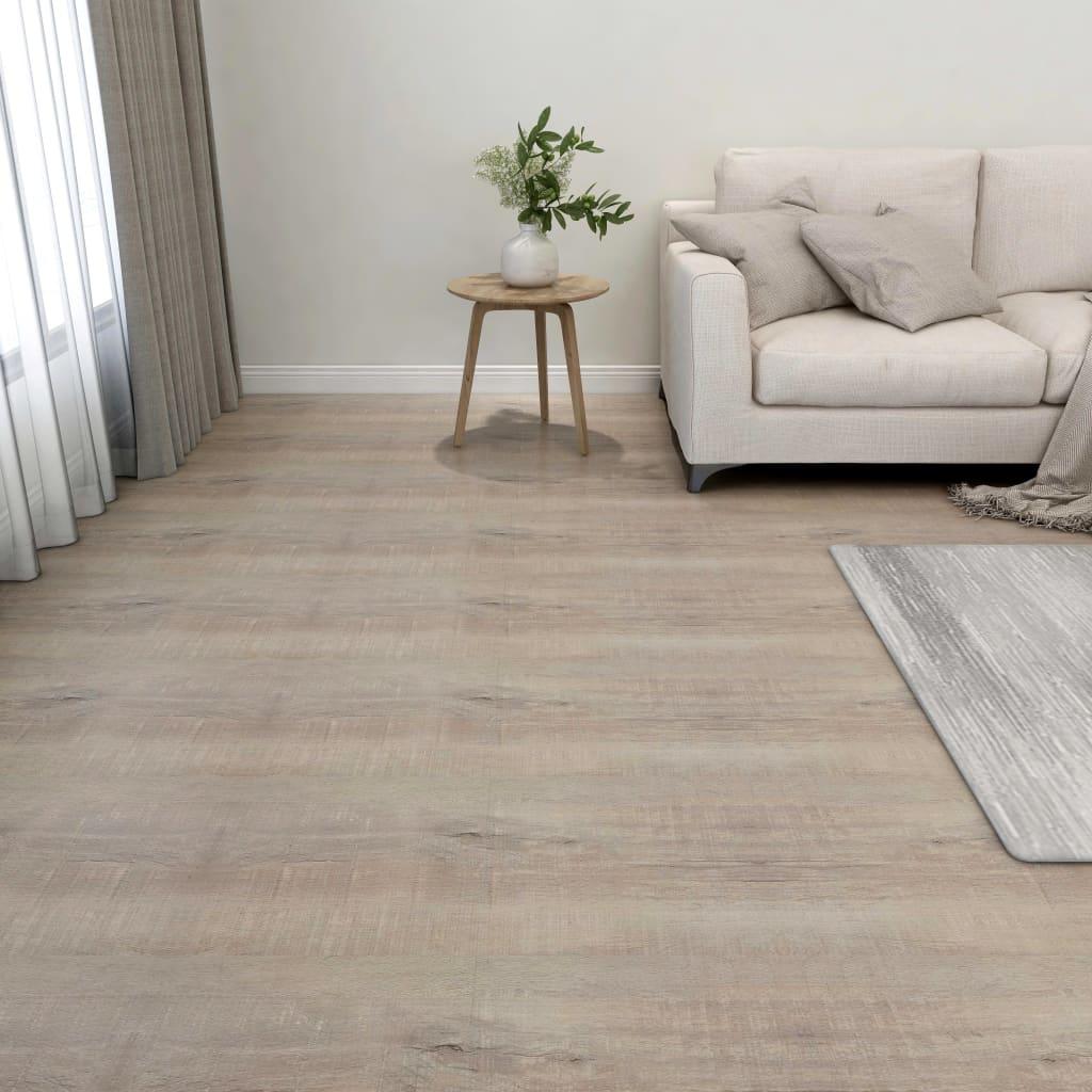 Samolepicí podlahové desky 55 ks PVC 5,11 m² taupe