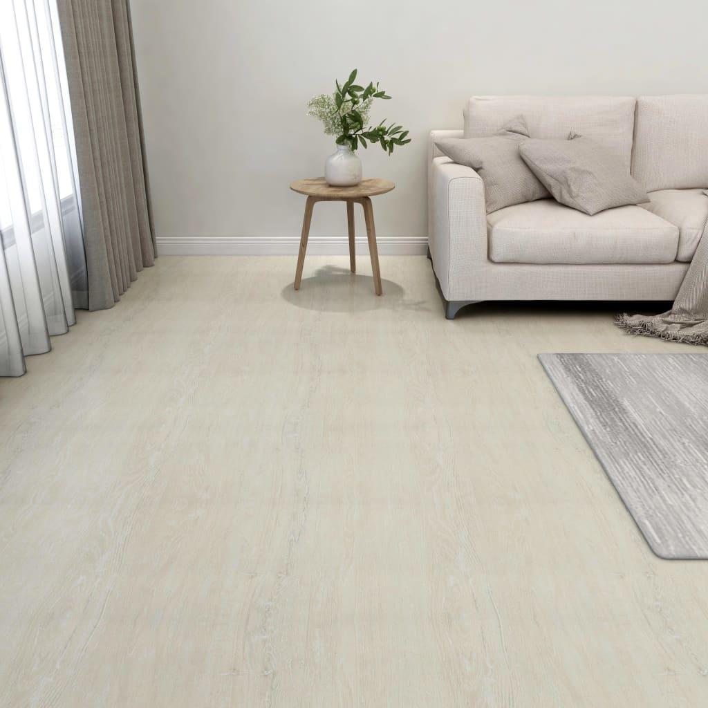 Samolepicí podlahové desky 55 ks PVC 5,11 m² krémové