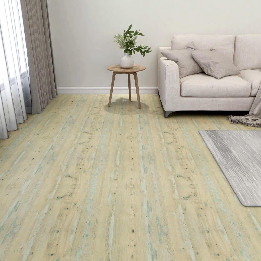 Vloerplanken zelfklevend 55 st 5,11 m² PVC lichtbruin