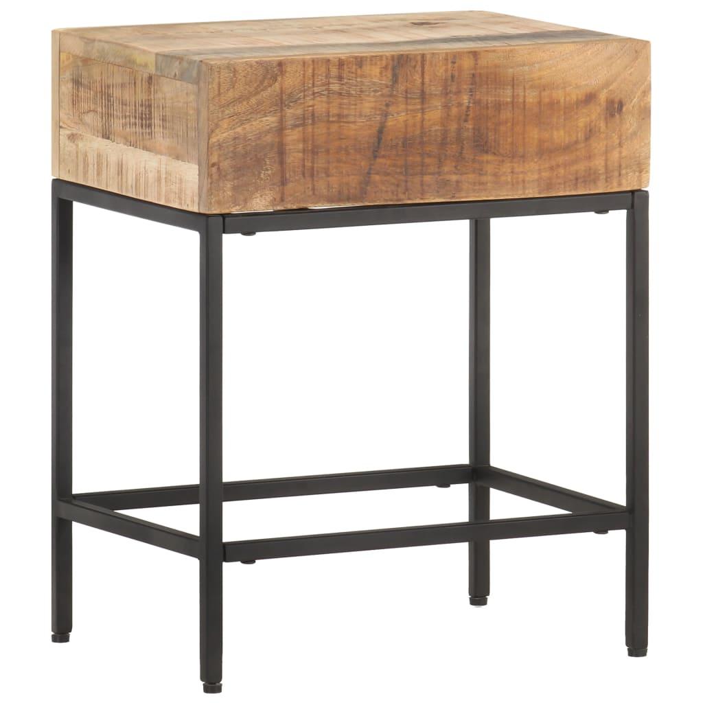 Odkládací stolek 40x30x50 cm masivní hrubé mangovníkové dřevo
