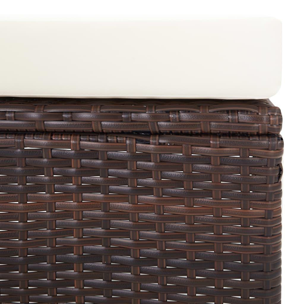vidaXL 2-delige Loungeset met kussens poly rattan bruin