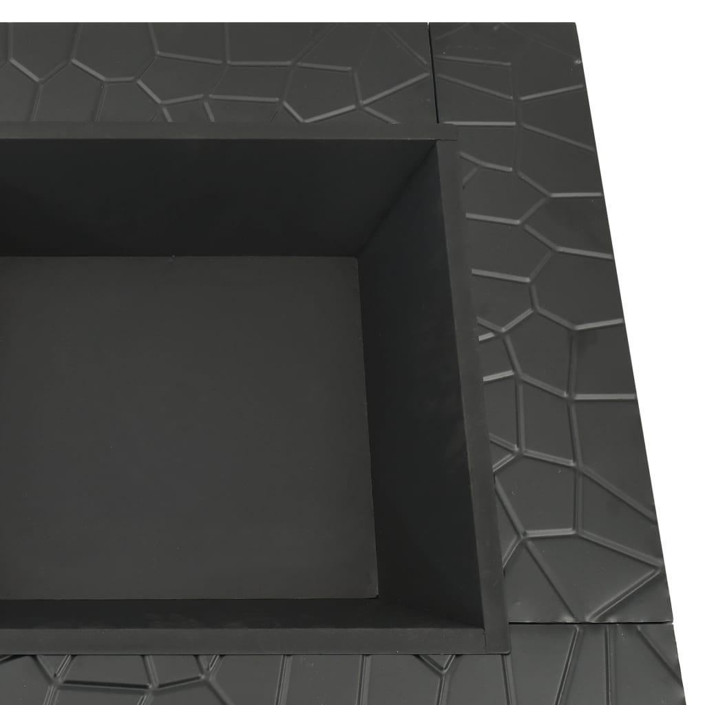 vidaXL Vuurplaats met pook XXL 81x81x47 cm staal