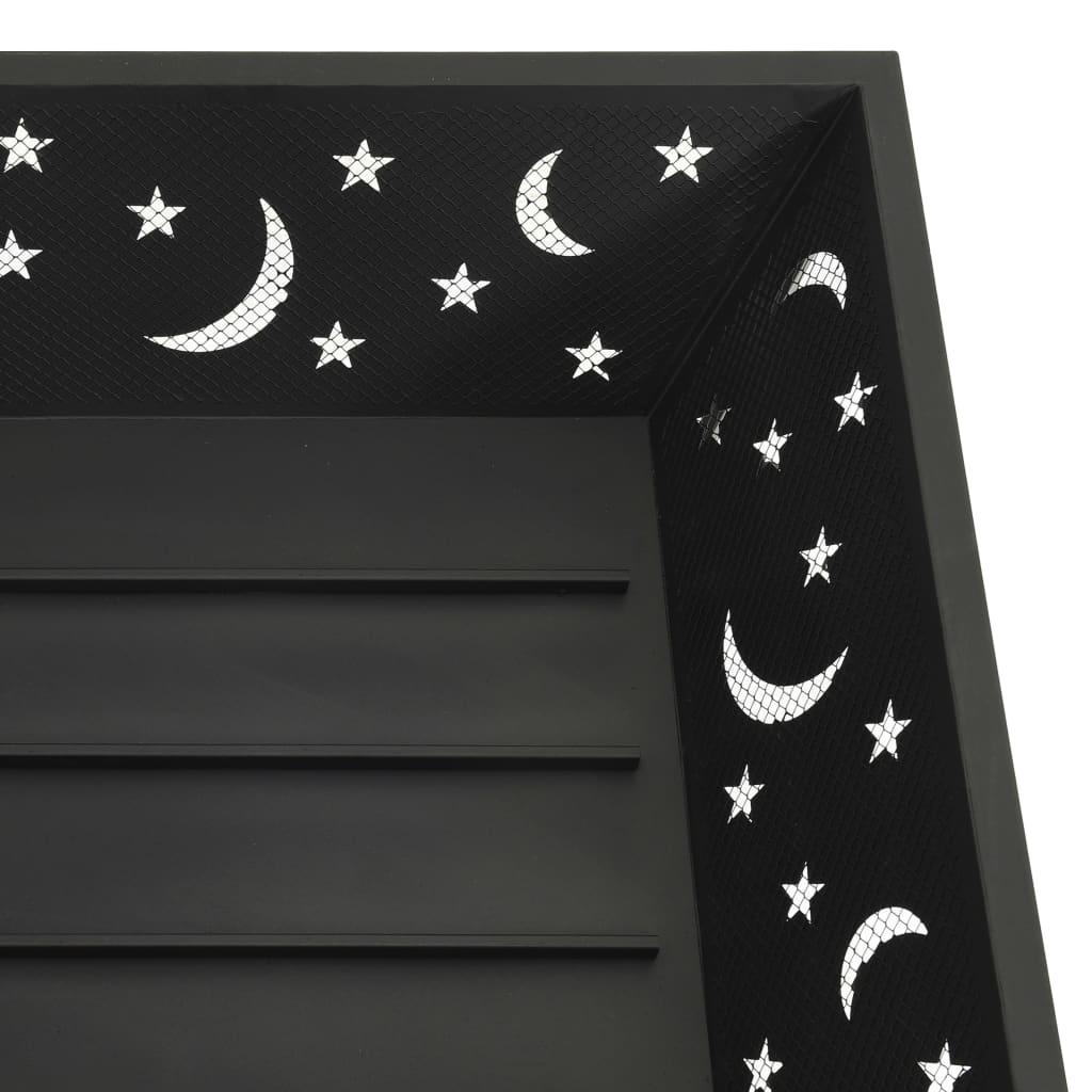 vidaXL Vatră de foc cu vătrai, 62 cm, oțel, XXL