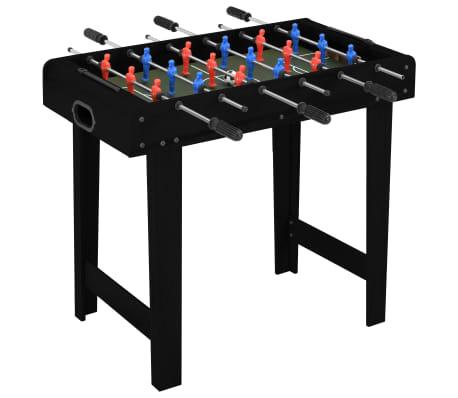 vidaXL Fotbollsbord mini 69x37x62 cm svart