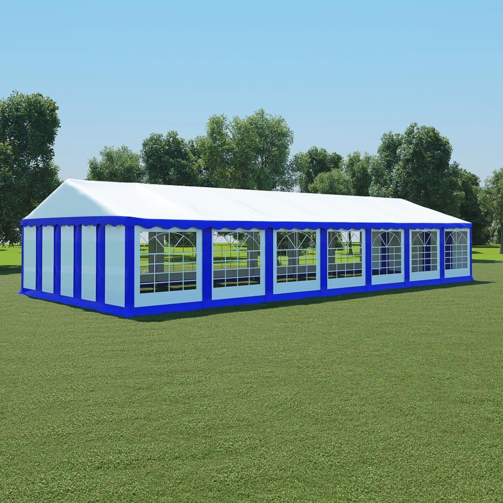 vidaXL Pavilion de grădină, albastru și alb, 6 x 14 m, PVC poza vidaxl.ro