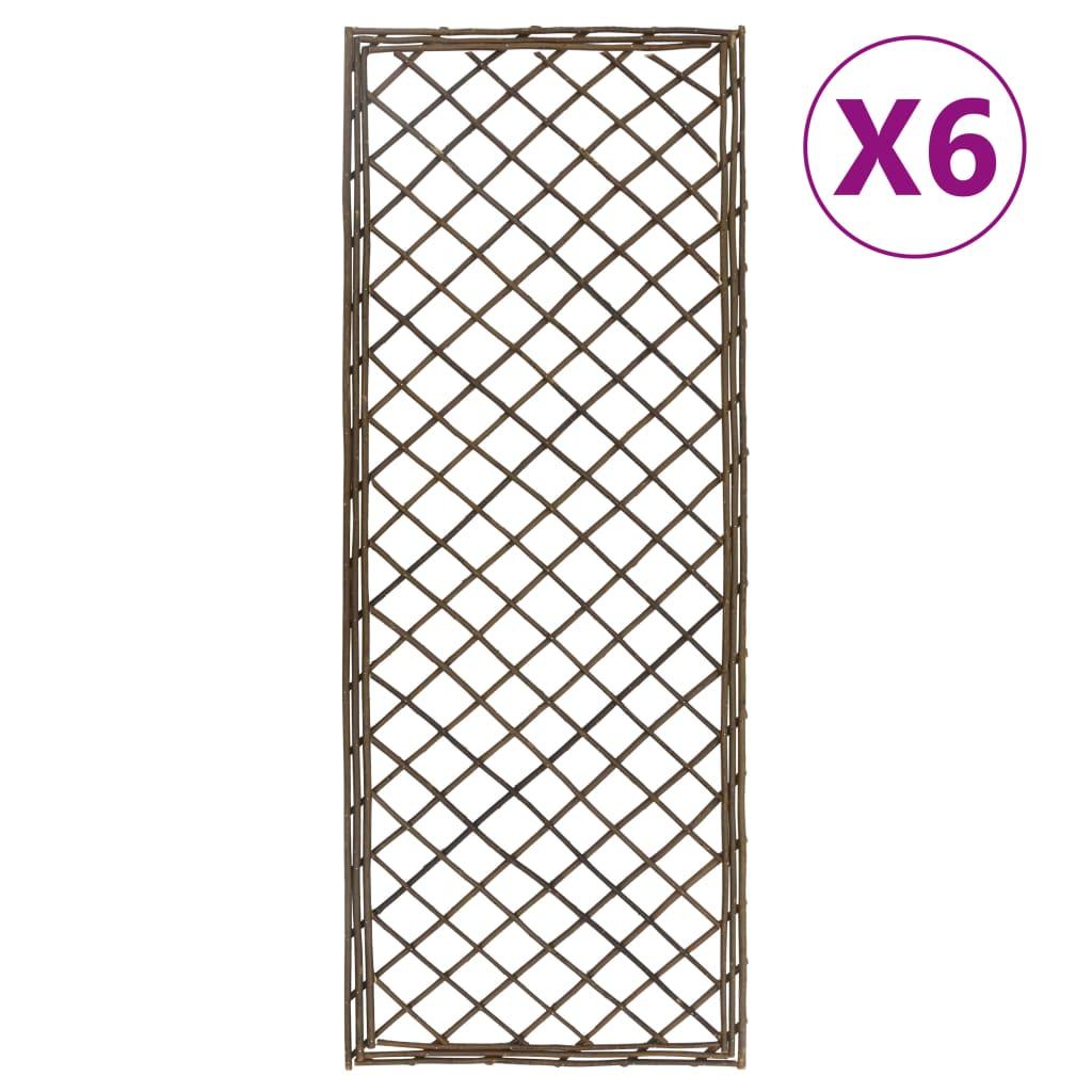 vidaXL Spaliere de grădină, 6 buc., 30 x 170 cm, salcie vidaxl.ro