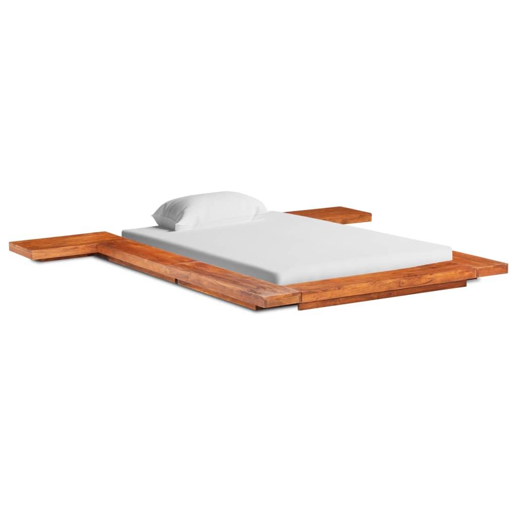 vidaXL Cadru pat futon, stil japonez, 120 x 200 cm, lemn masiv acacia poza vidaxl.ro