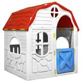 vidaXL Sulankstomas vaikiškas žaidimų namelis su durimis ir langais