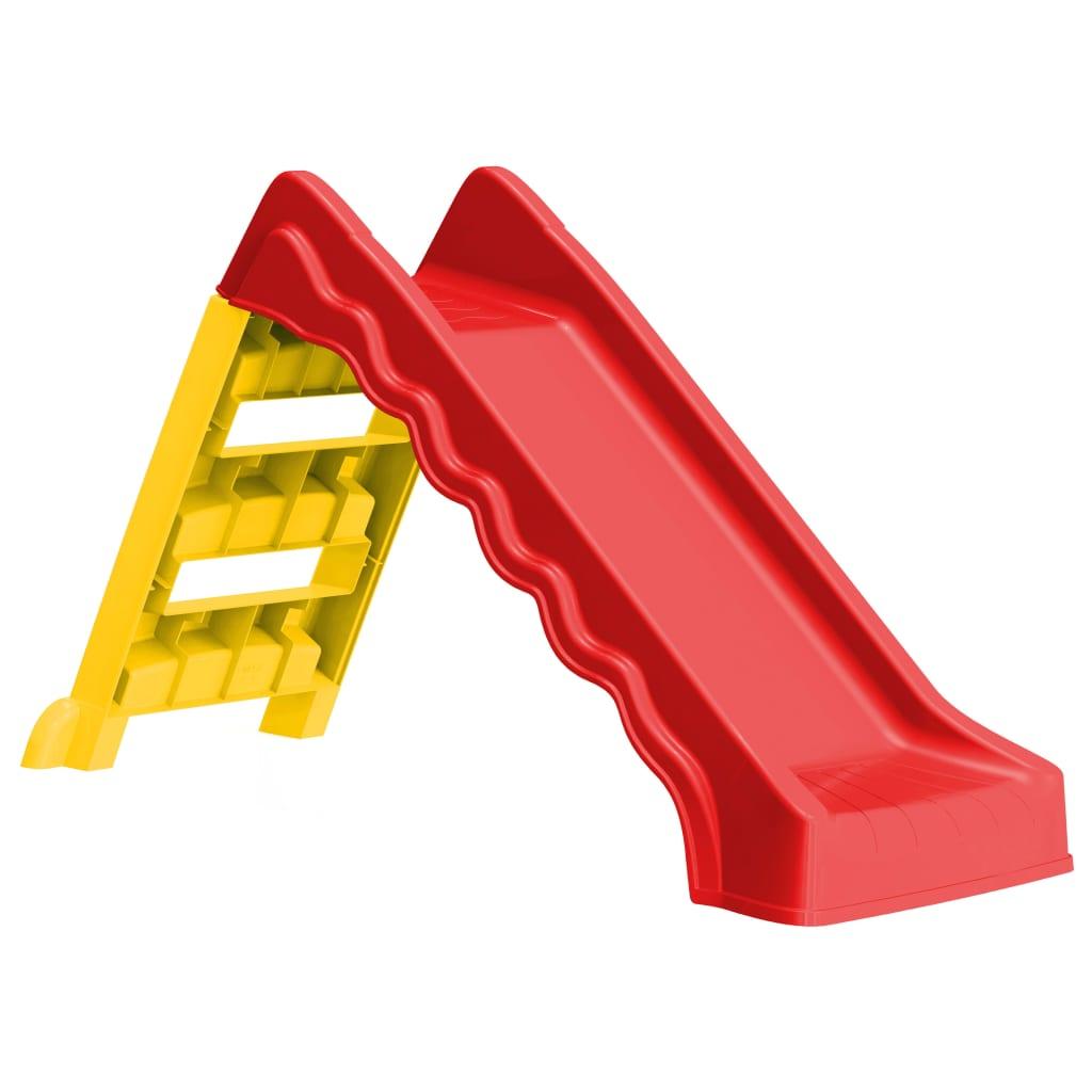 vidaXL Tobogan pliabil pentru copii de interior & exterior roșu/galben poza 2021 vidaXL