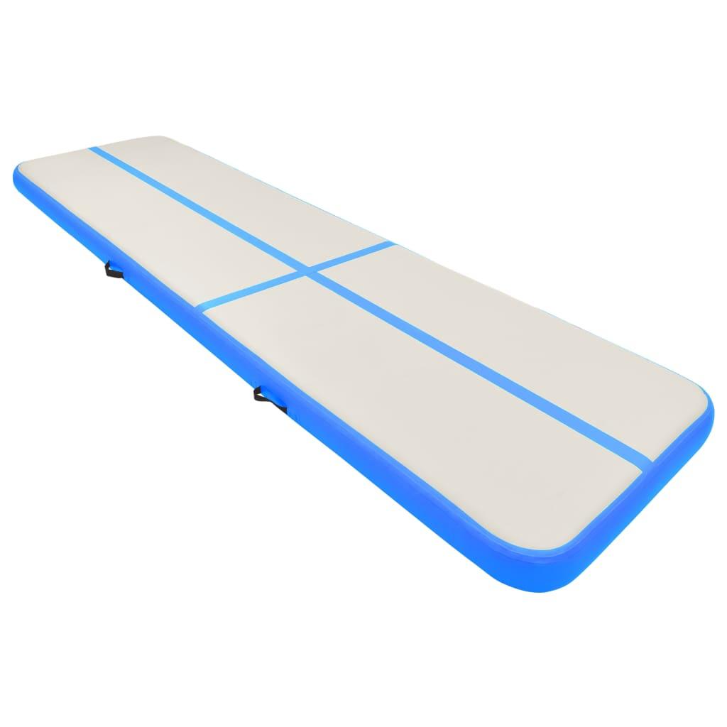 Täispumbatav võimlemismatt pumbaga 800x100x15 cm PVC sinine