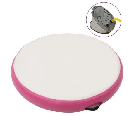 vidaXL Inflatable Gymnastic Mat with Pump 100x100x10 cm PVC Pink