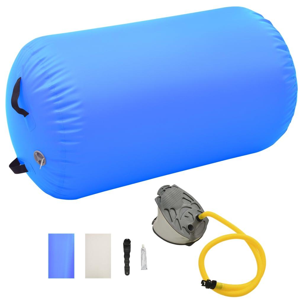 vidaXL kék PVC felfújható tornahenger pumpával 100 x 60 cm