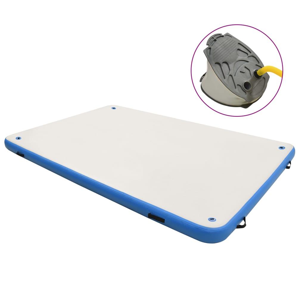 Plutajuća platforma na napuhavanje plavo-bijela 300x200x15 cm