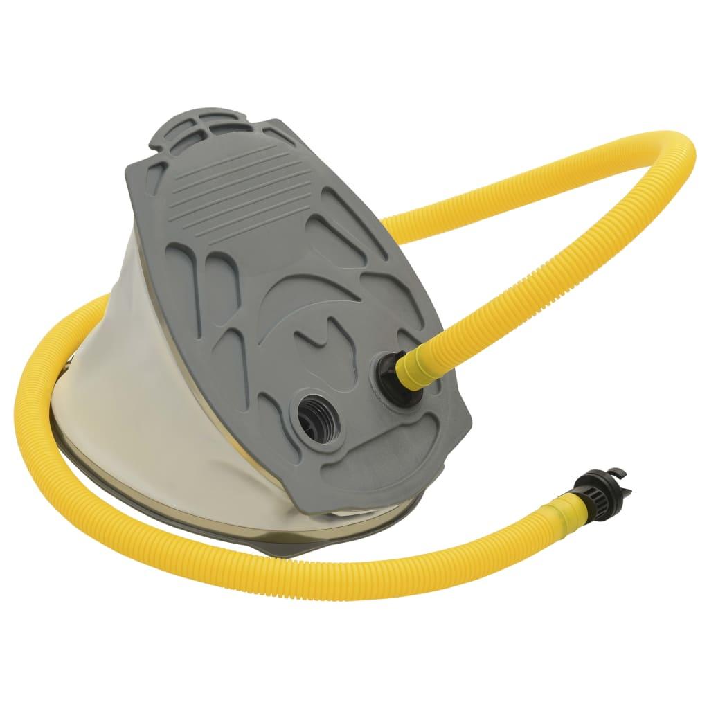 vidaXL Nožní pumpa 21 x 29,5 cm PP a PE šedá a žlutá