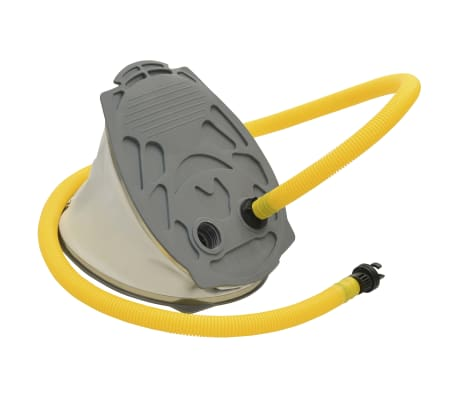 vidaXL Foot Pump 21x29.5 cm PP and PE Grey and Yellow