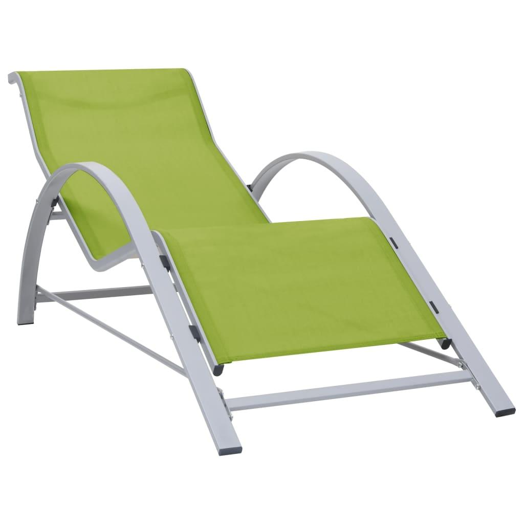 VidaXL Tumbona textilene y aluminio verde