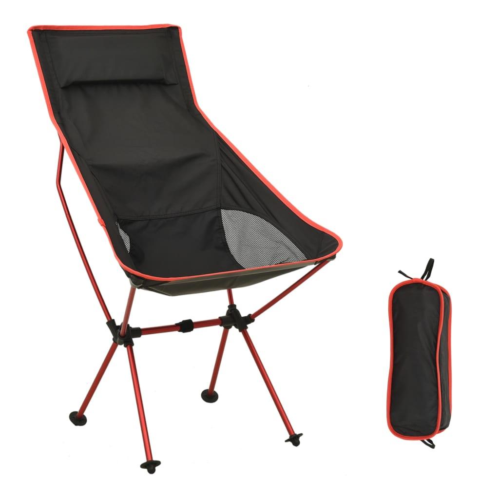 vidaXL Skládací kempingová židle PVC a hliník černá