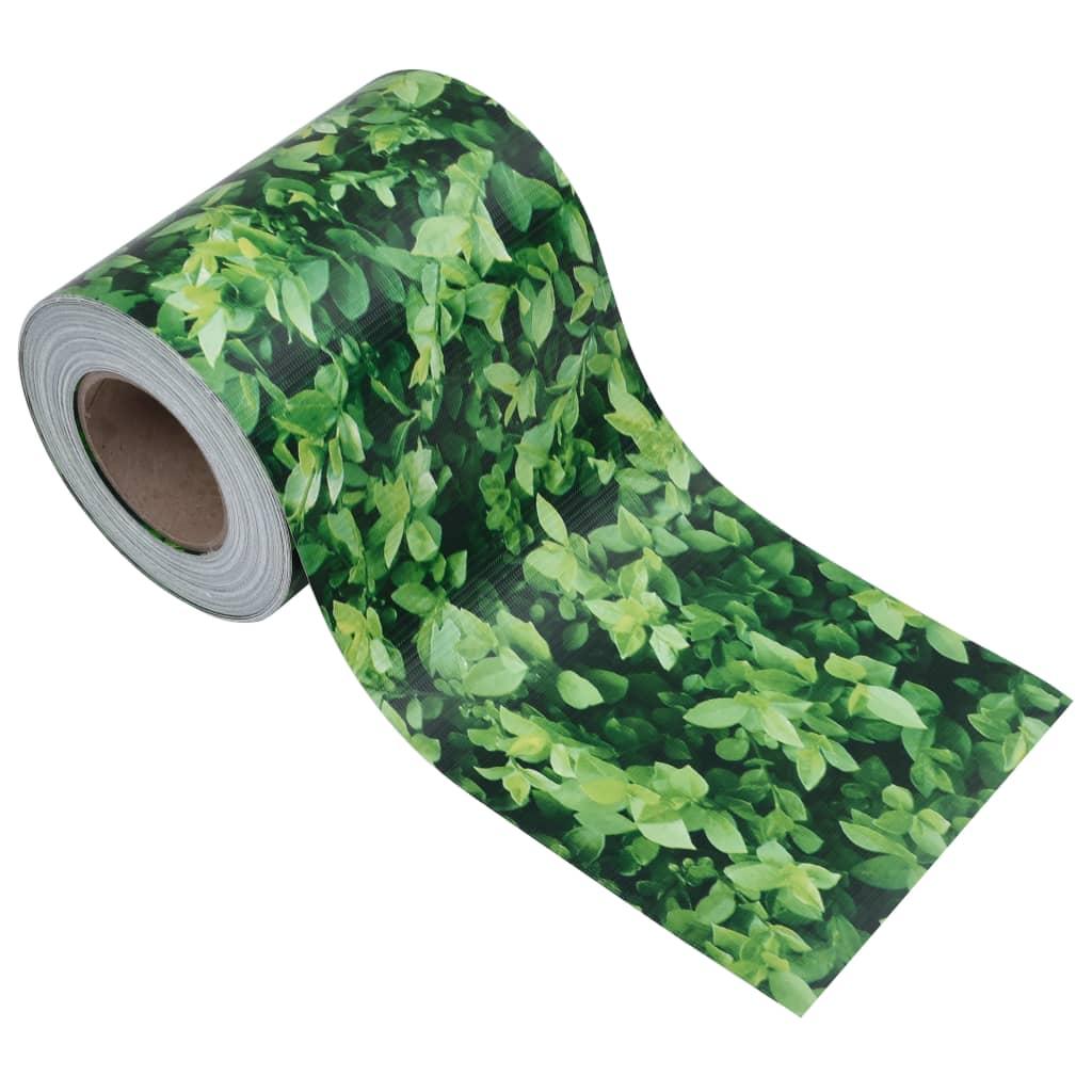 vidaXL Tuinscherm 35x0,19 m PVC groen