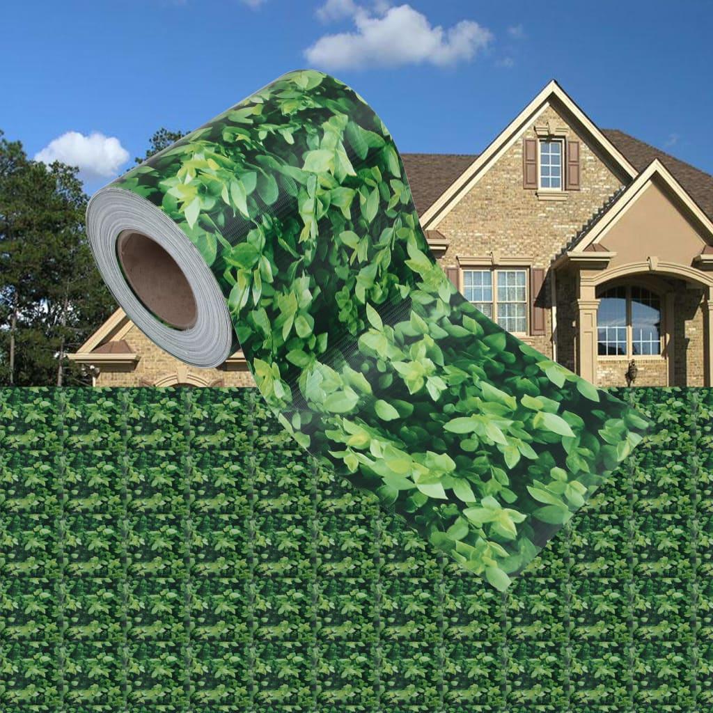 Tuinschermen 4 st 35x0,19 m PVC groen