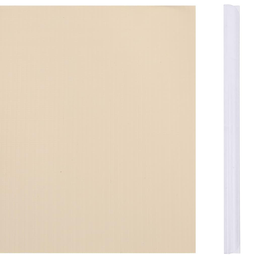 vidaXL Tuinscherm 35x0,19 m PVC crème
