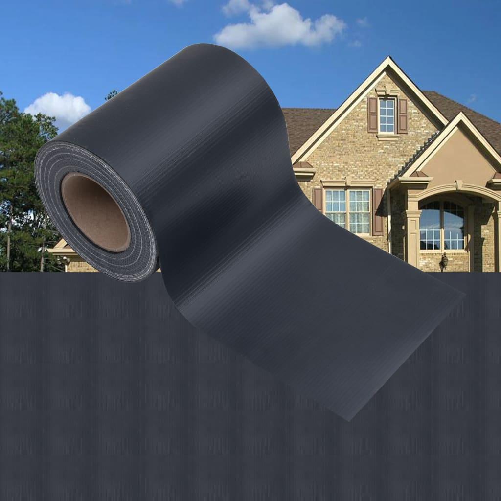 Zahradní stínící plotová fólie PVC 35 x 0,19 matná tmavě šedá