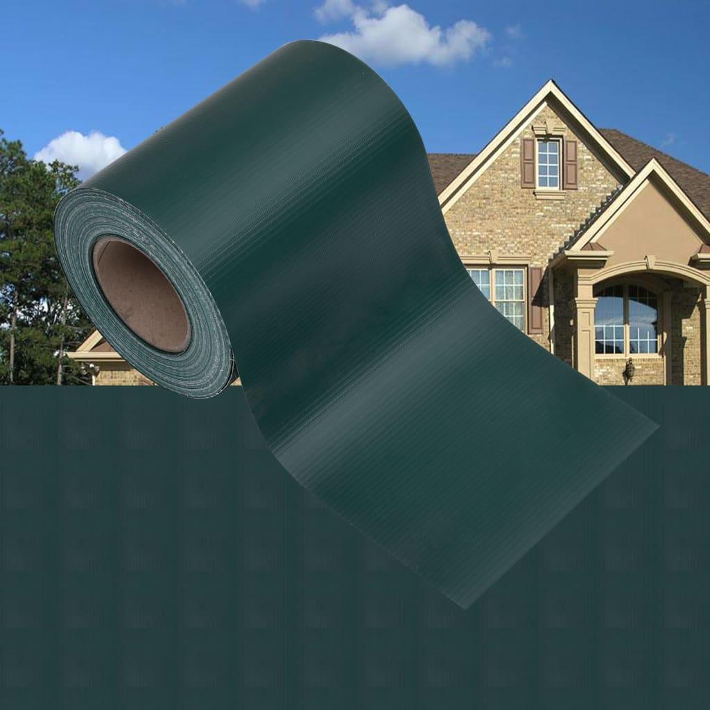 Zahradní stínící plotová fólie PVC 35 x 0,19 matná zelená