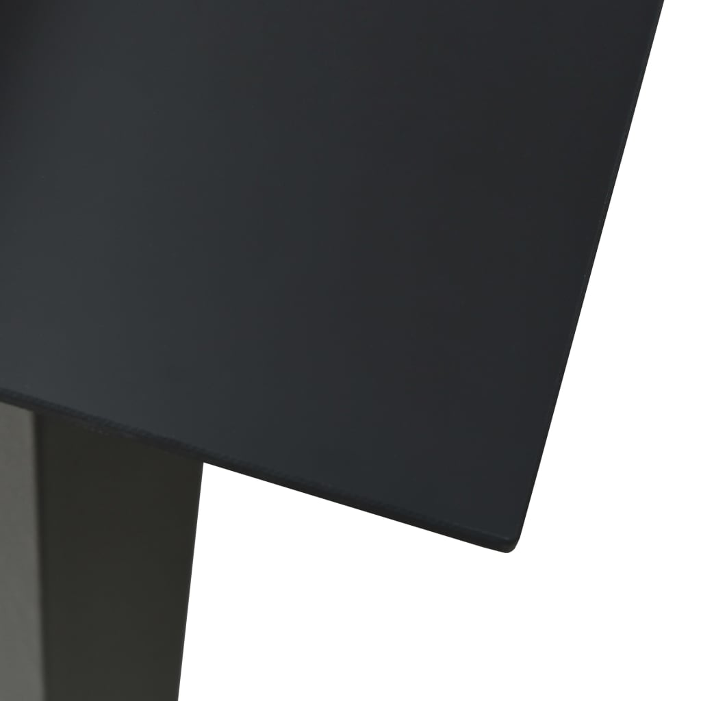 vidaXL Tuintafel 150x80x74 cm staal en glas zwart