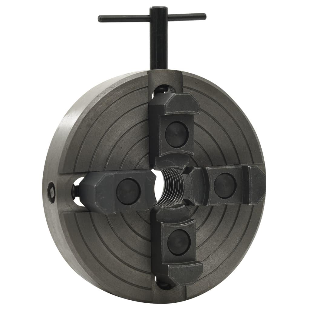 vidaXL Mandrină pentru lemn 4 fălci conexiune M33 negru 150x63 mm oțel