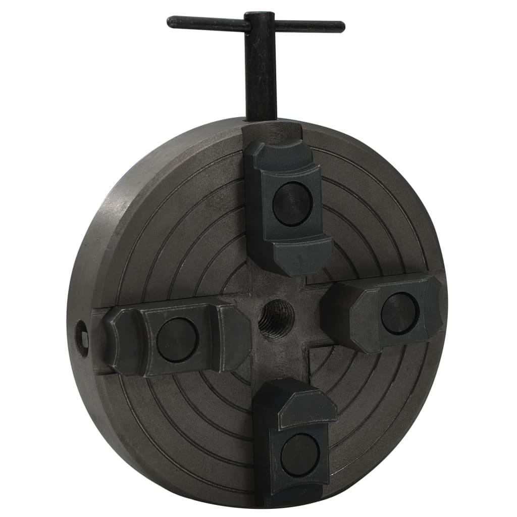 vidaXL Houtklauwplaat 4 bekken M18 verbinding 150x63 mm staal zwart