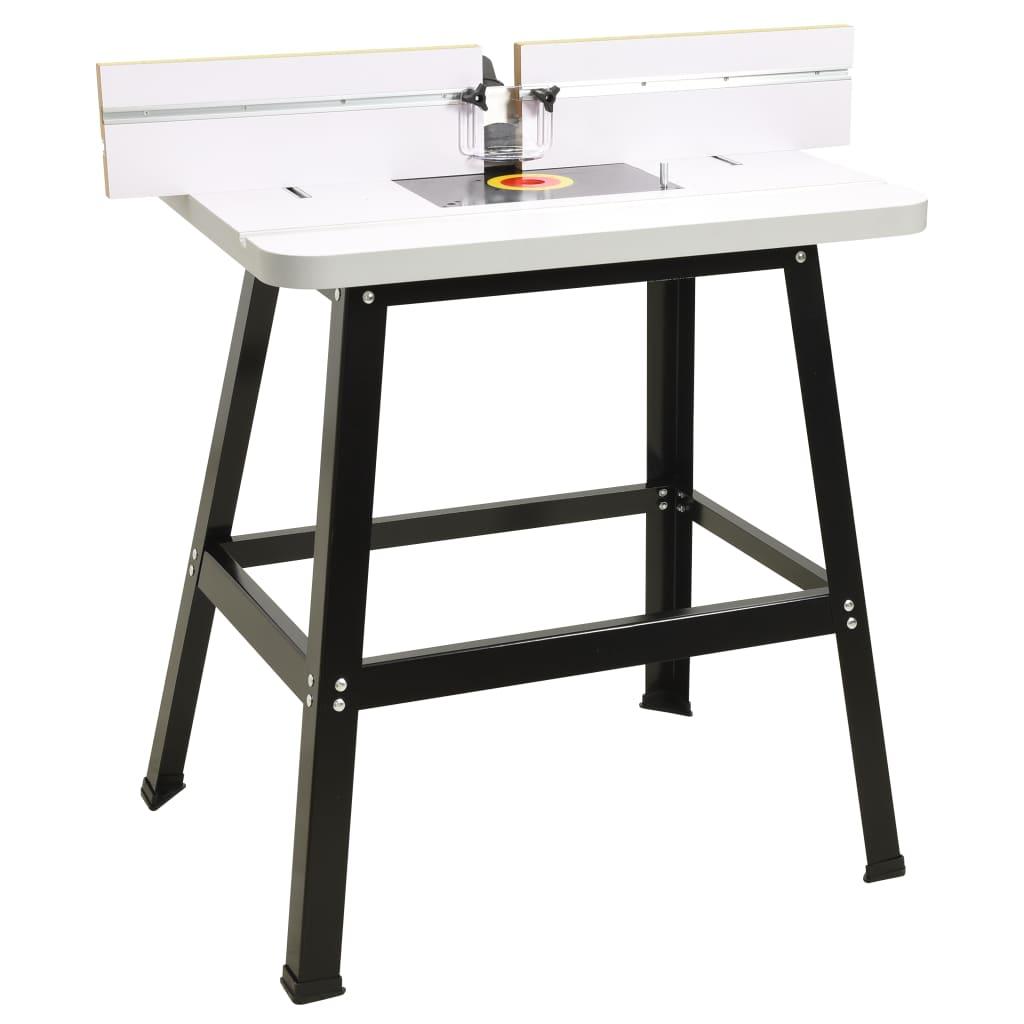 Pracovní stůl pro horní frézku ocel a MDF 81 x 61 x 88 cm