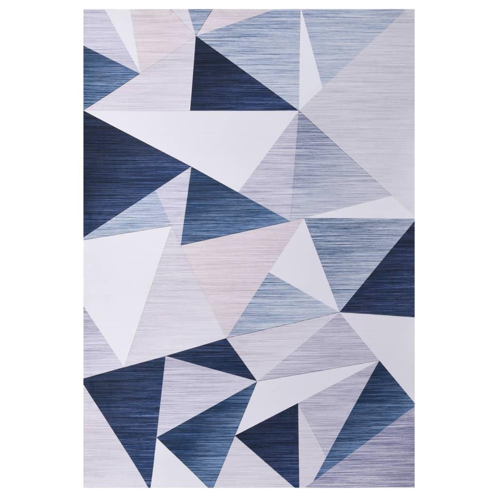 vidaXL Vloerkleed bedrukt 120x160 cm stof meerkleurig