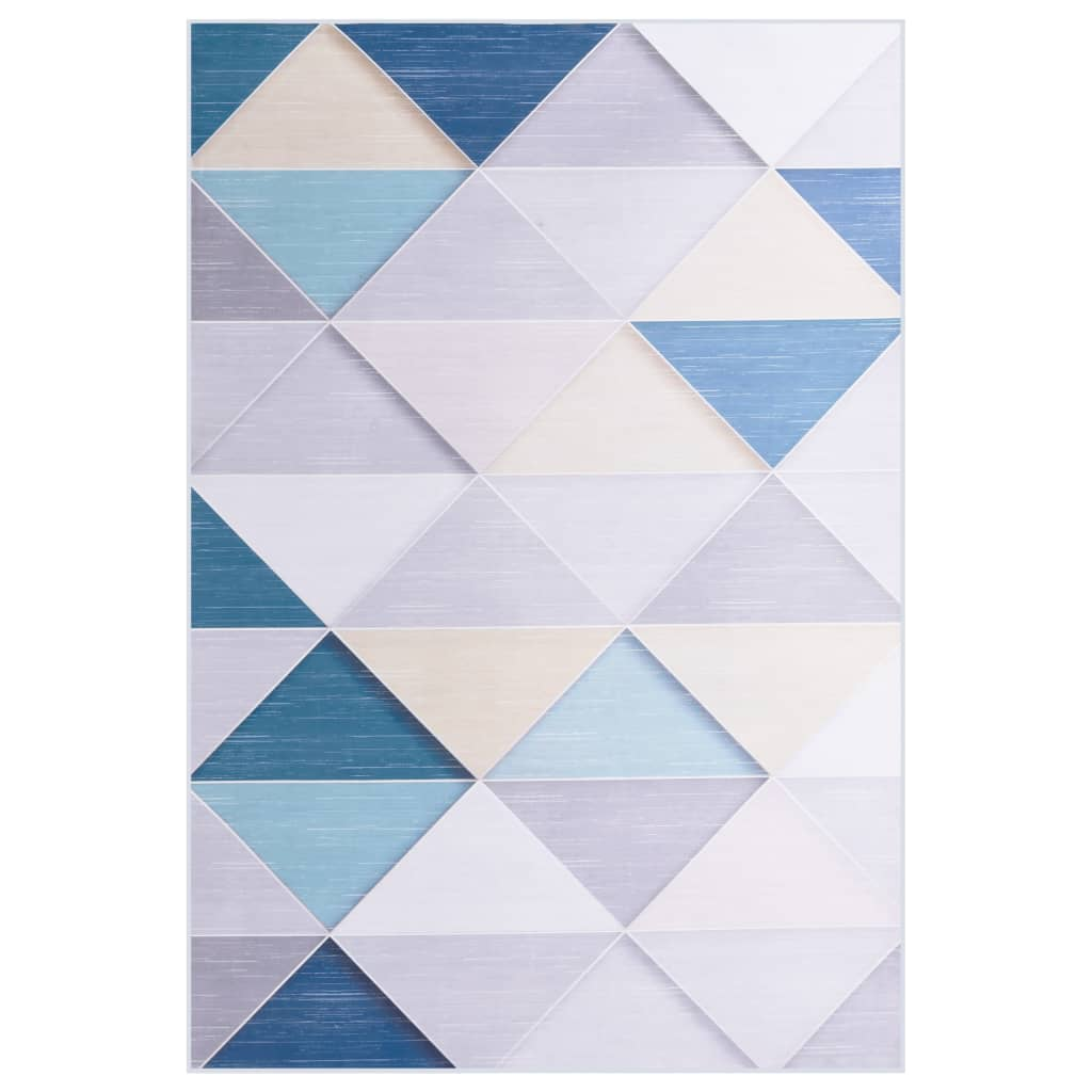 vidaXL Covor cu imprimeu, multicolor, 140 x 200 cm, material textil poza vidaxl.ro
