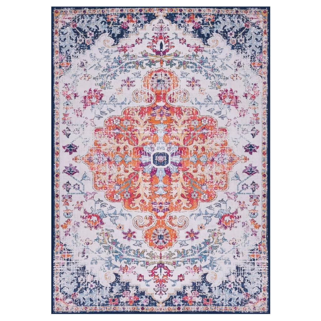 vidaXL Covor cu imprimeu, multicolor, 140 x 200 cm, material textil vidaxl.ro