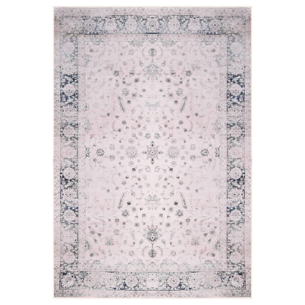 vidaXL gulvtæppe med tryk 140×200 cm stof flerfarvet