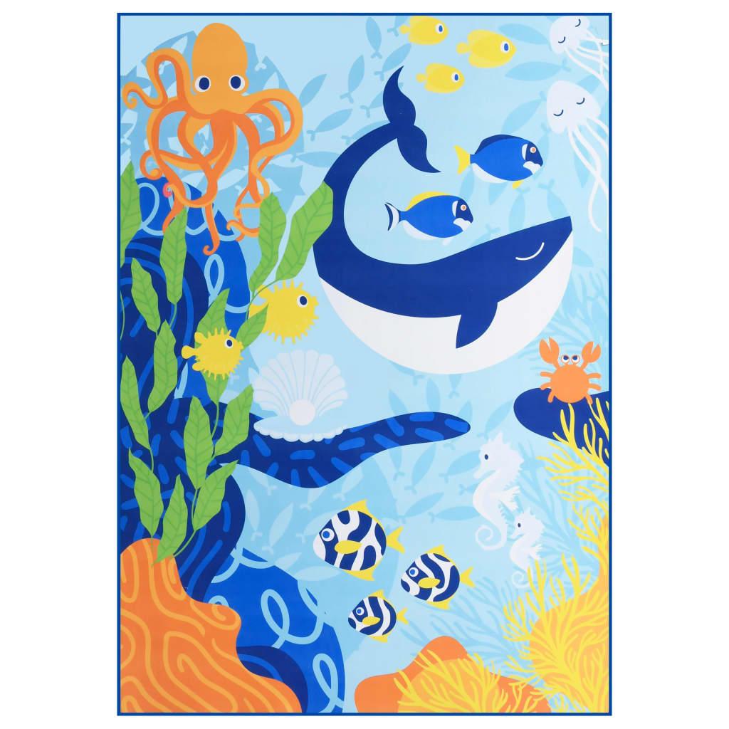 Koberec s potiskem vícebarevný 80 x 150 cm textil