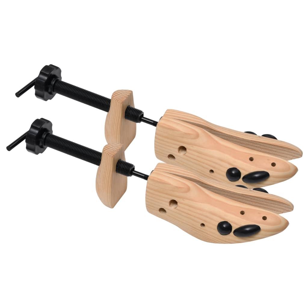 Napínáky do bot 5 párů velikost 41–46 masivní borové dřevo