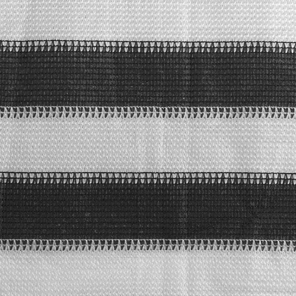 Tenttapijt 250x400 cm antraciet en wit