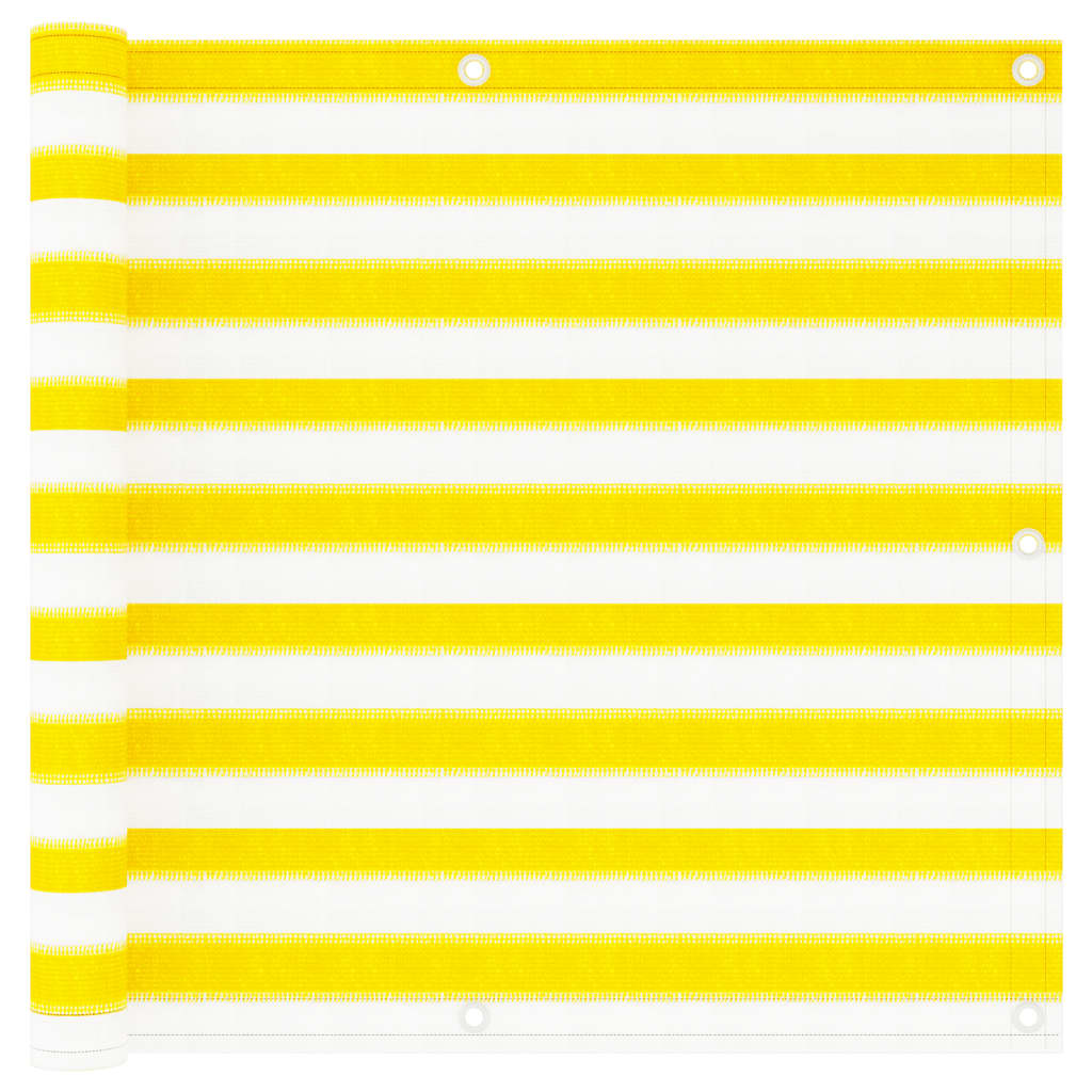 Balkonová zástěna žluto-bílá 90 x 300 cm HDPE