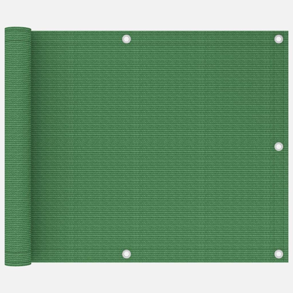 Balkónová zástěna světle zelená 75 x 300 cm HDPE