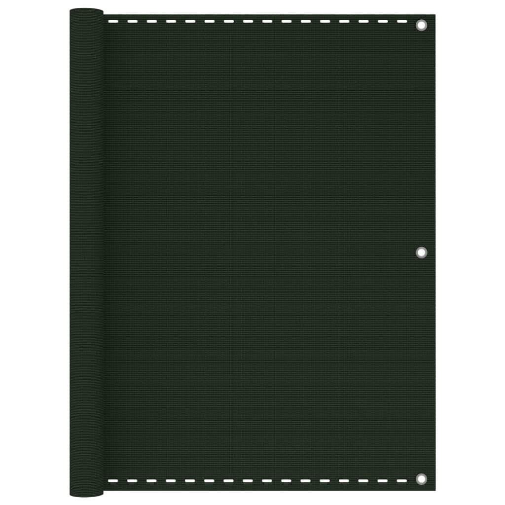Balkónová zástěna tmavě zelená 120 x 300 cm HDPE