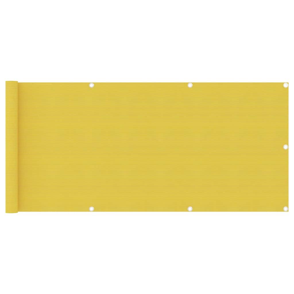 Balkónová zástěna žlutá 75 x 300 cm HDPE