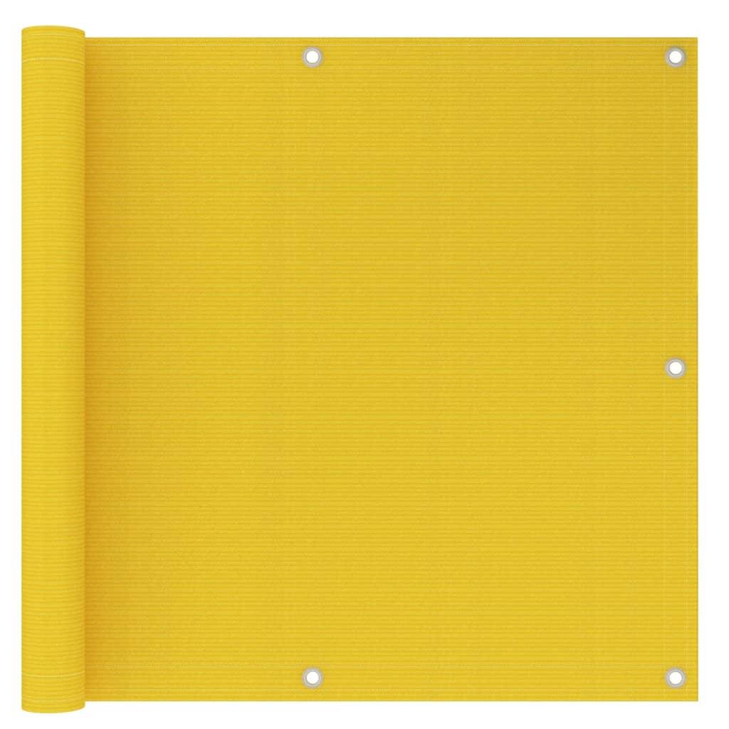 Balkonová zástěna žlutá 90 x 300 cm HDPE